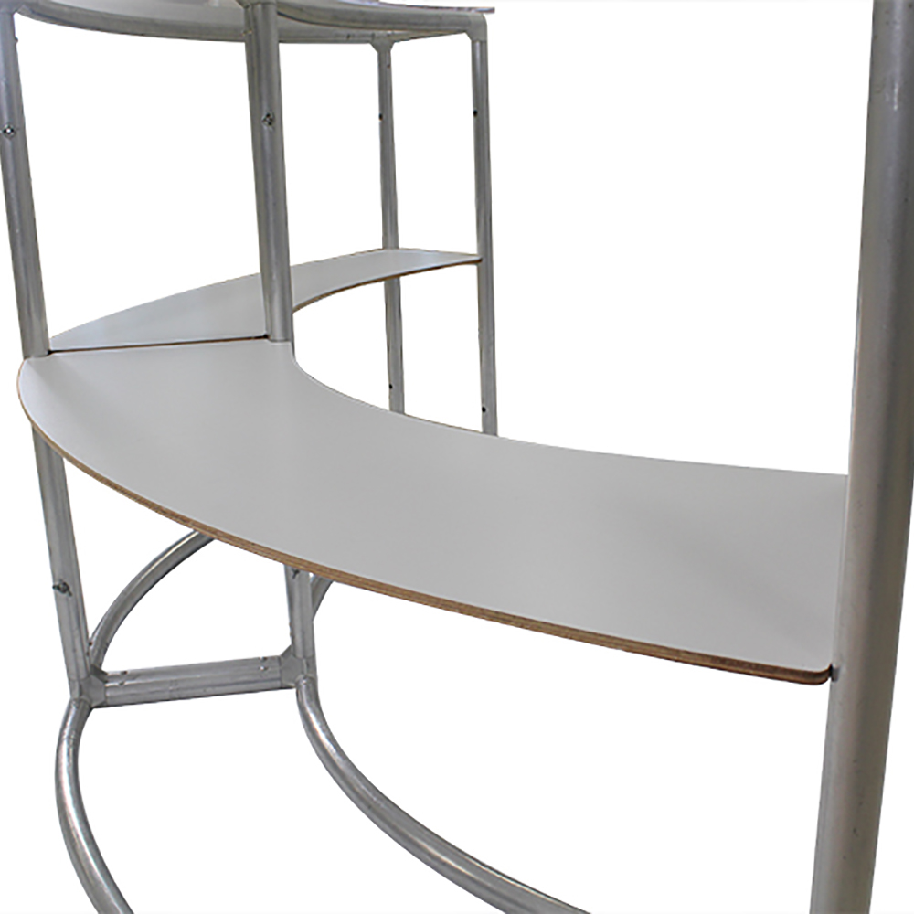 EZ Fabric Counter - Curved Double Frame Shelf