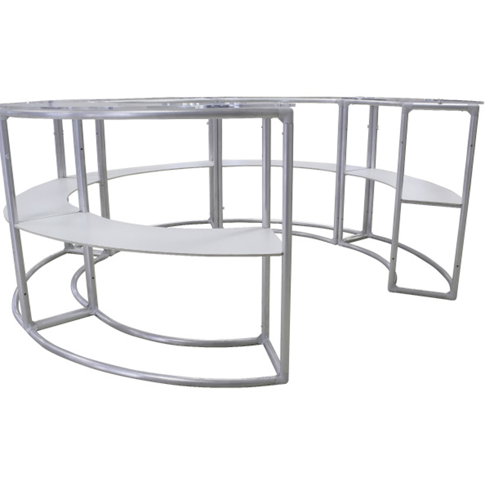 EZ Fabric Counter - Curved Quint Frame Shelf