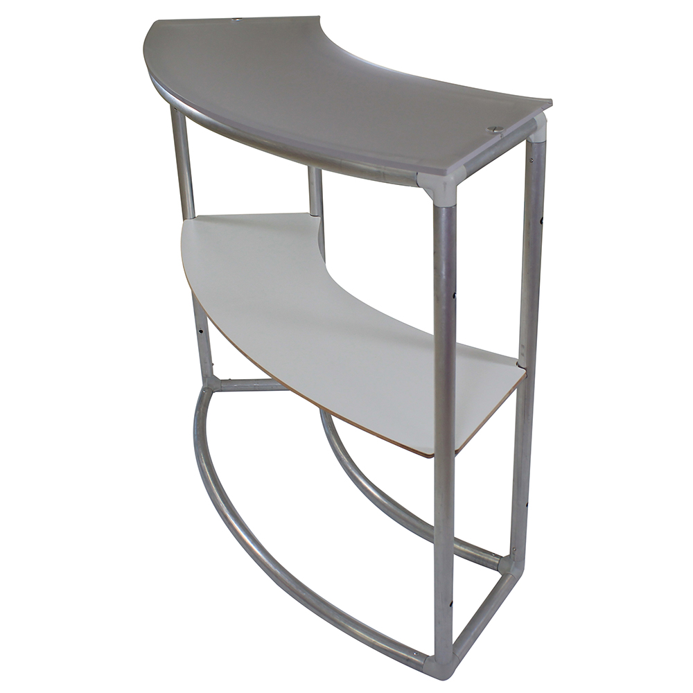 EZ Fabric Counter - Curved Single Frame w/shelf side