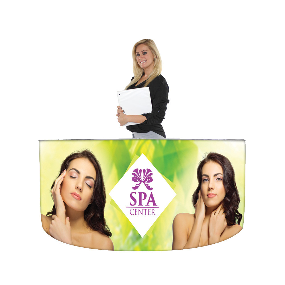 EZ Fabric Counter - Curved Quad Front