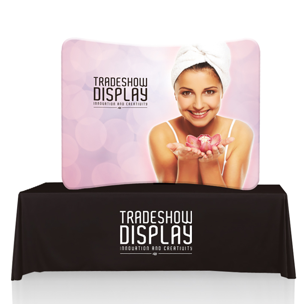 EZ Tube 6ft Curved Table Top Display